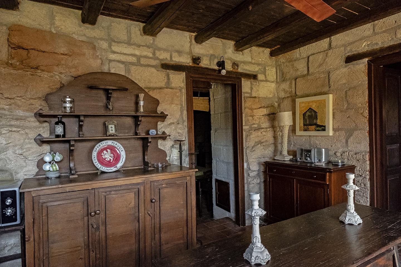 Vista sulla cucina soggiorno