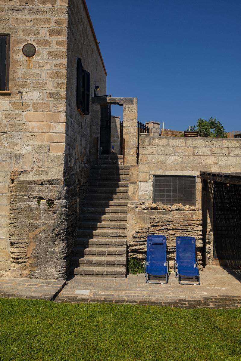 Scala esterna di accesso alla Villa Superiore